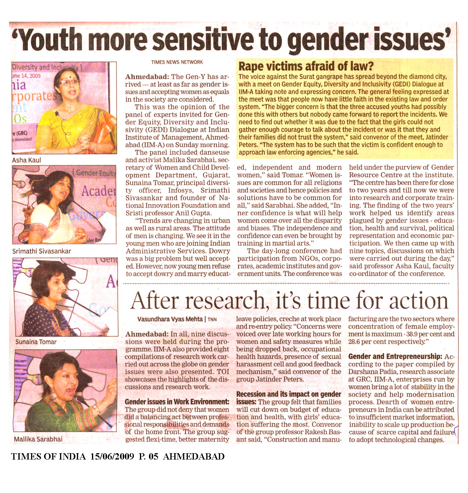 articles on gender issues in india
